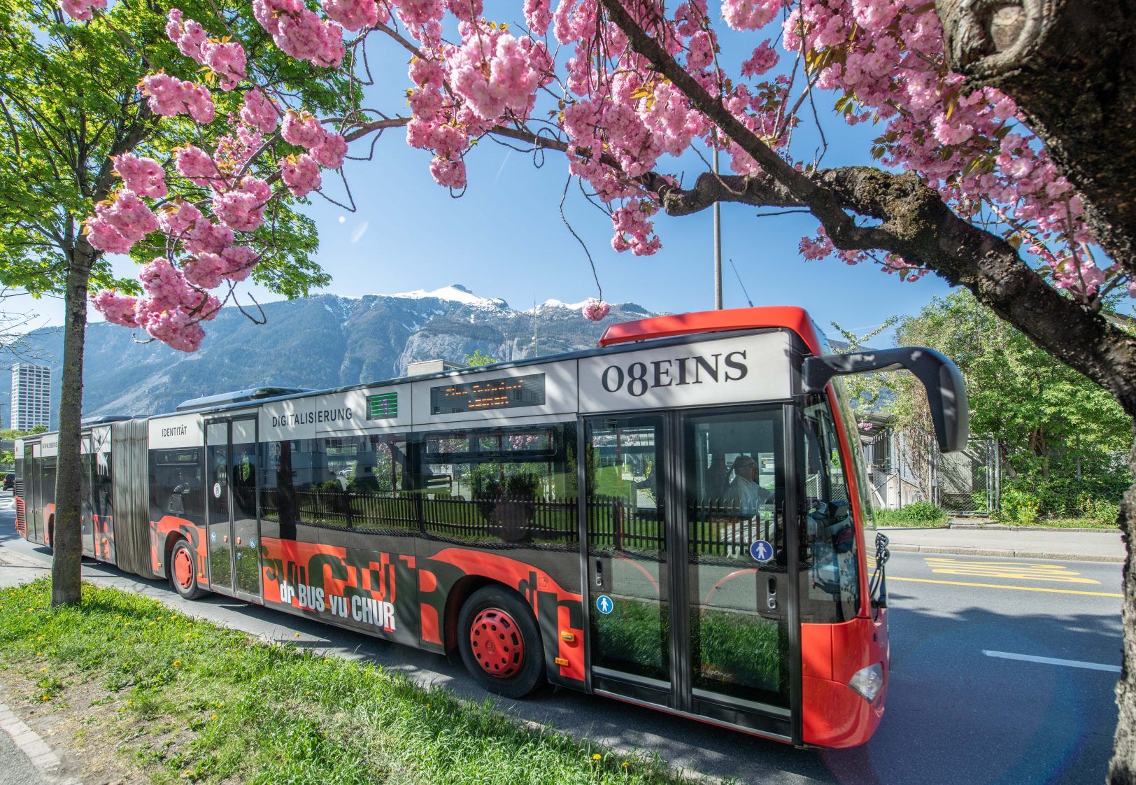 Chur Bus im Frühling