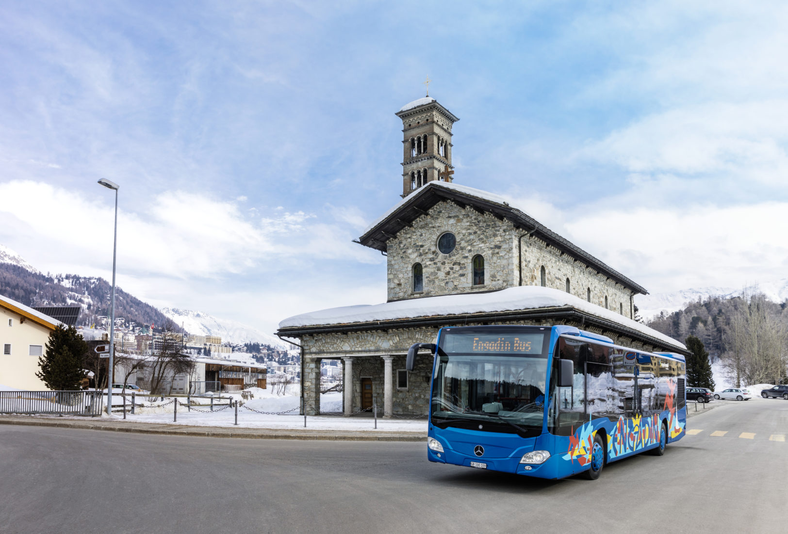 Engadin Bus in St. Moritz Bad