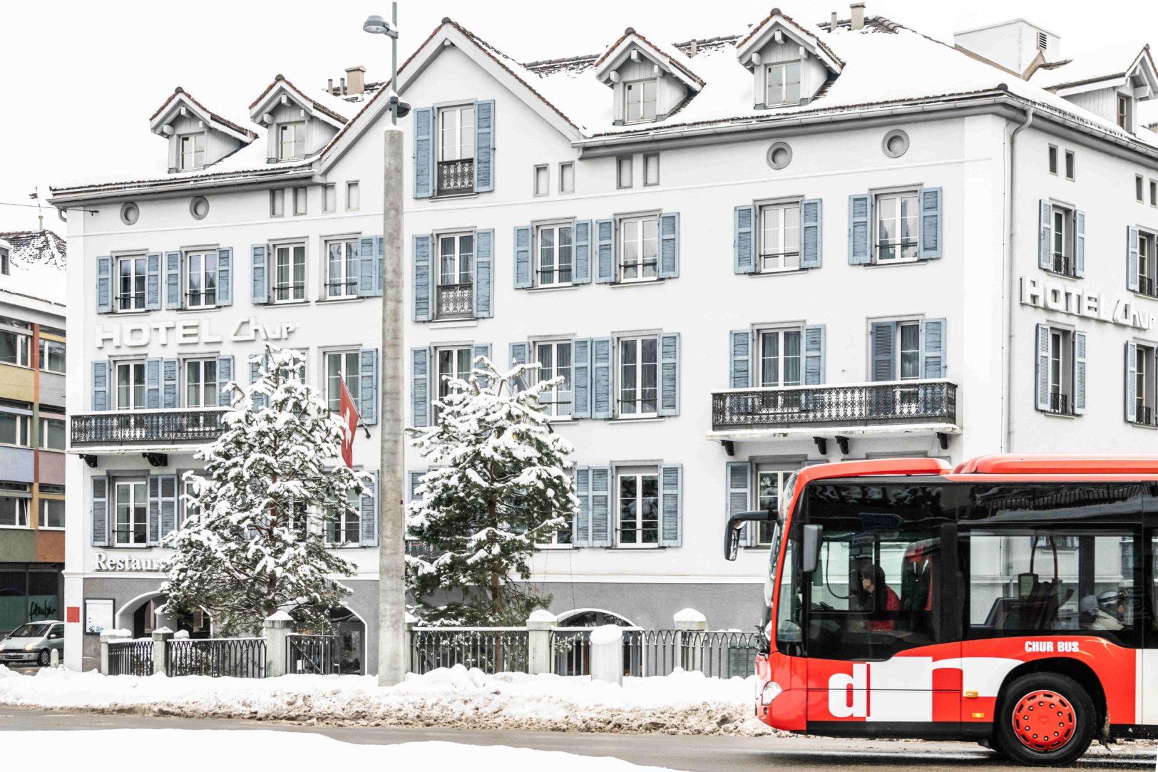 Chur Bus im Stadtzentrum