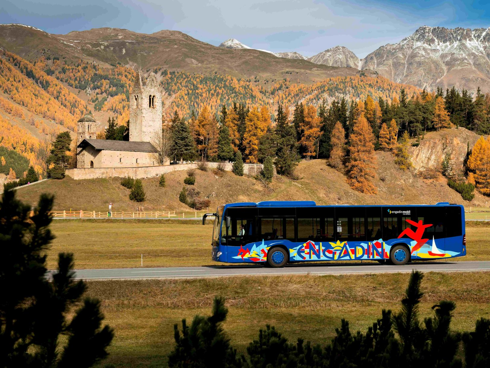Engadin Bus in Celerina