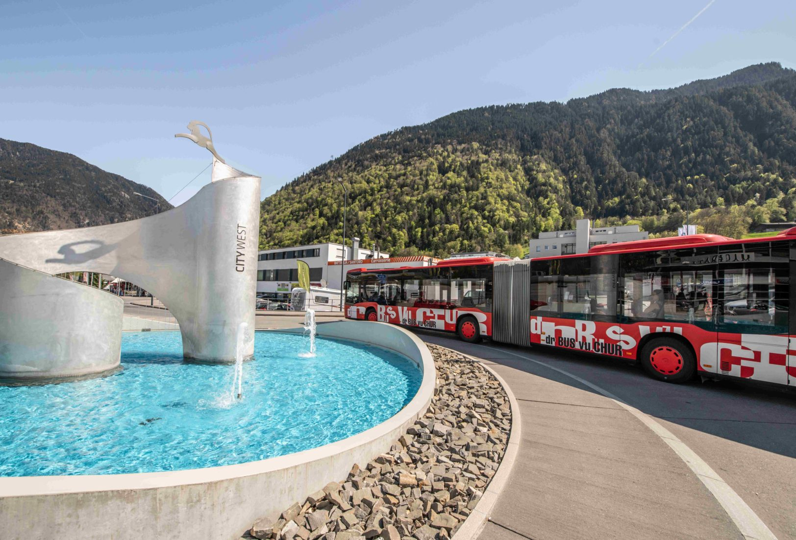 Chur Bus beim City West Kreisel