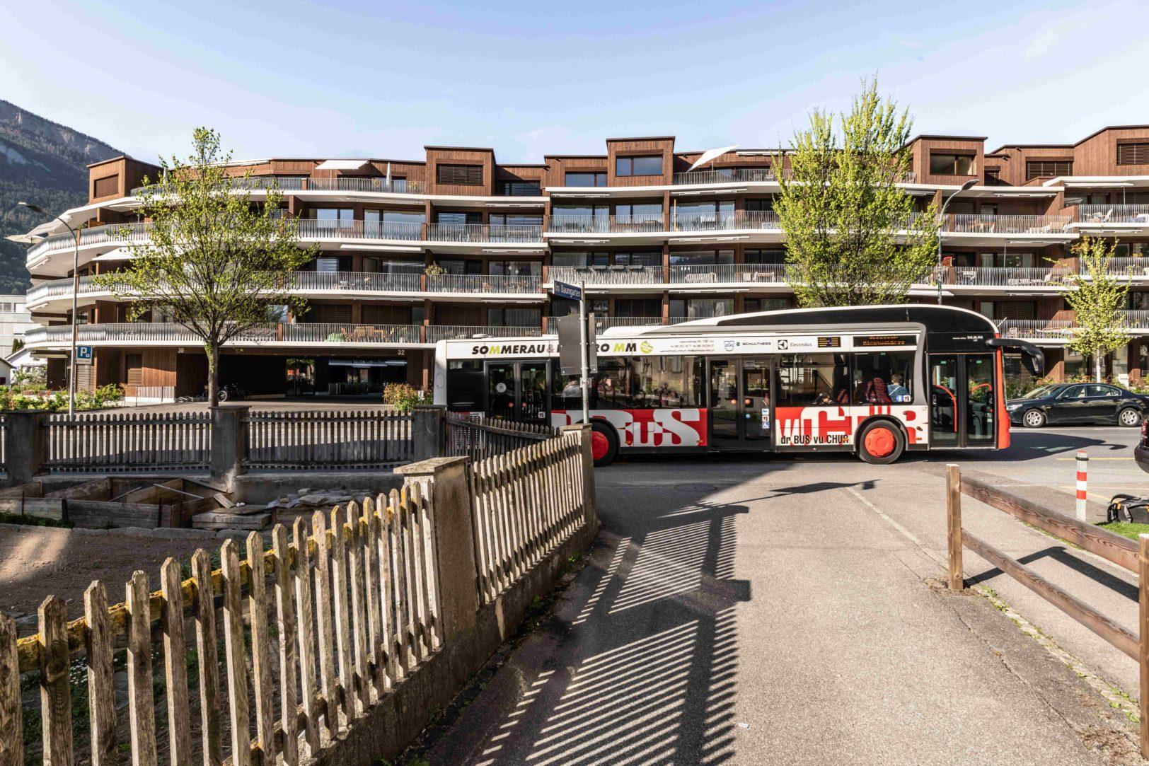 Chur Bus in der Pulvermühlestrasse