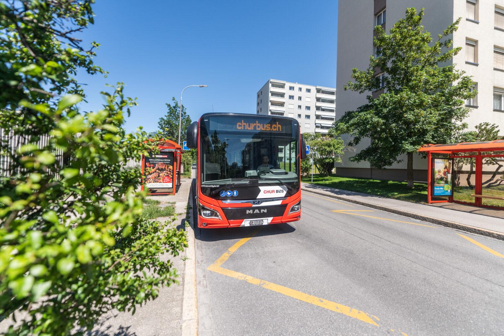 Chur Bus im Wohnquartier