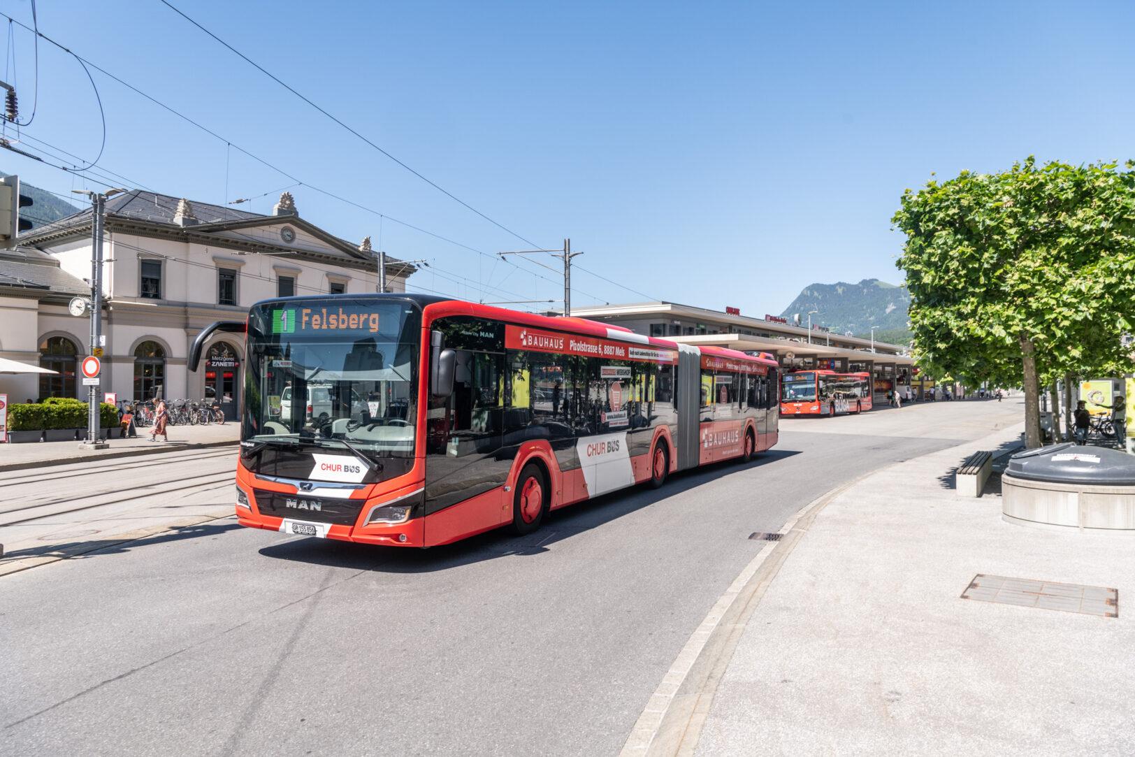 Chur Bus am Bahnhof Chur
